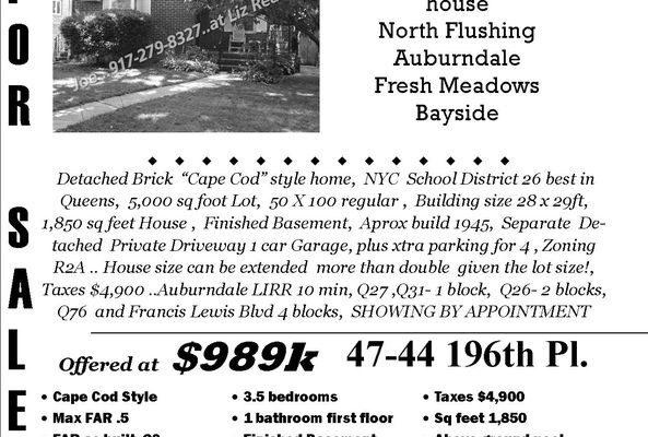 47-44 196th Pl # 1, Flushing, NY 11358 -  $989,000